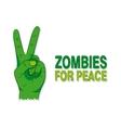 cartoon a green zombie hand vector image