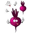 Cartoon beetroot vegetable vector image vector image