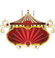 circus red signboard vector image vector image