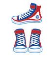 colorful sports sneakers set vector image vector image