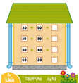 counting game for children count numbers vector image vector image