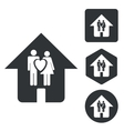 Couple house icon set monochrome vector image vector image