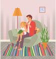dad and daughter spend time together a father is vector image vector image