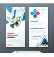 dl flyer design blue template dl flyer banner vector image vector image