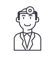 doctor checkup line icon sign vector image