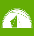 dome tent icon green vector image vector image
