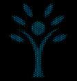 eco man mosaic icon of halftone bubbles vector image vector image