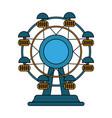 fair wheel design vector image vector image