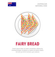 fairy bread traditional australian dish vector image