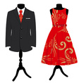 Formal dress set vector image vector image