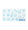 goals outline blue banner on white vector image vector image