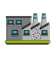 green factory symbol vector image