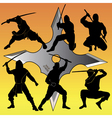 group of Ninja vector image vector image