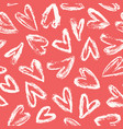hand drawn heart background vector image vector image