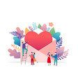 happy valentines day love letter concept big vector image