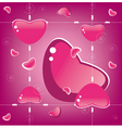 heart background valentine day vector image vector image