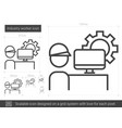 industry worker line icon vector image vector image
