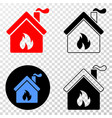 kitchen building eps icon with contour vector image vector image