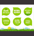 labels and emblems of ecology collection vector image vector image