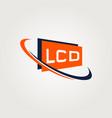 lcd logo symbol icon vector image