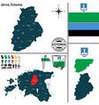 map of jarva estonia vector image vector image
