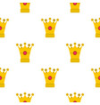 medieval crown pattern flat vector image vector image
