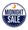 midnight sale sign or stamp vector image