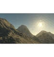 Mountains background with sun in glacier vector image