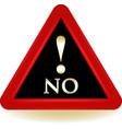 no sign vector image