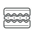 orthopedic mattress layers isolated linear icon vector image vector image