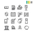 outline finance icons vector image vector image
