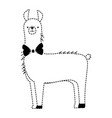 peruvian llama isolated icon vector image