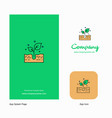 plant company logo app icon and splash page vector image
