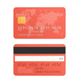 red credit card vector image vector image