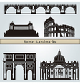 Rome landmarks and monuments vector image