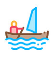 sailing canoeing icon vector image