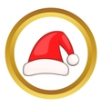 Santa Claus red hat icon vector image vector image