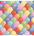 seamless easter eggs vector image vector image