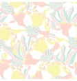 Seamless pattern with hand drawn peony flowers vector image vector image