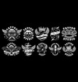 set of custom tattoo designs vector image