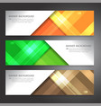 set of horizon abstract display banner background vector image vector image