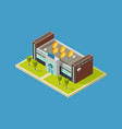 shopping mall isometric design shopping vector image