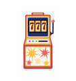 slot machine flat gambling vector image