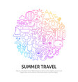 summer travel circle concept vector image vector image