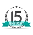 Template Logo 15 Years Anniversary vector image vector image