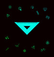 the ruler triangle icon graphic elements for vector image