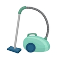 Vacuum cleaner icon in cartoon style isolated on vector image vector image