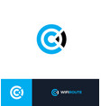 wi-fi flat style logo concept wireless vector image