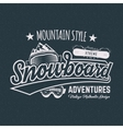 Winter snowboard sports label t shirt Vintage vector image vector image