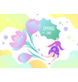 woman fairy and flowers vector image vector image